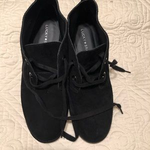 Black Lucky Brand Emilia leather upper